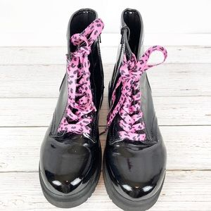 Cherokee Shoes - 🎀CHEROKEE LACE UP BLACK PATENT COMBAT BOOTS 🎀